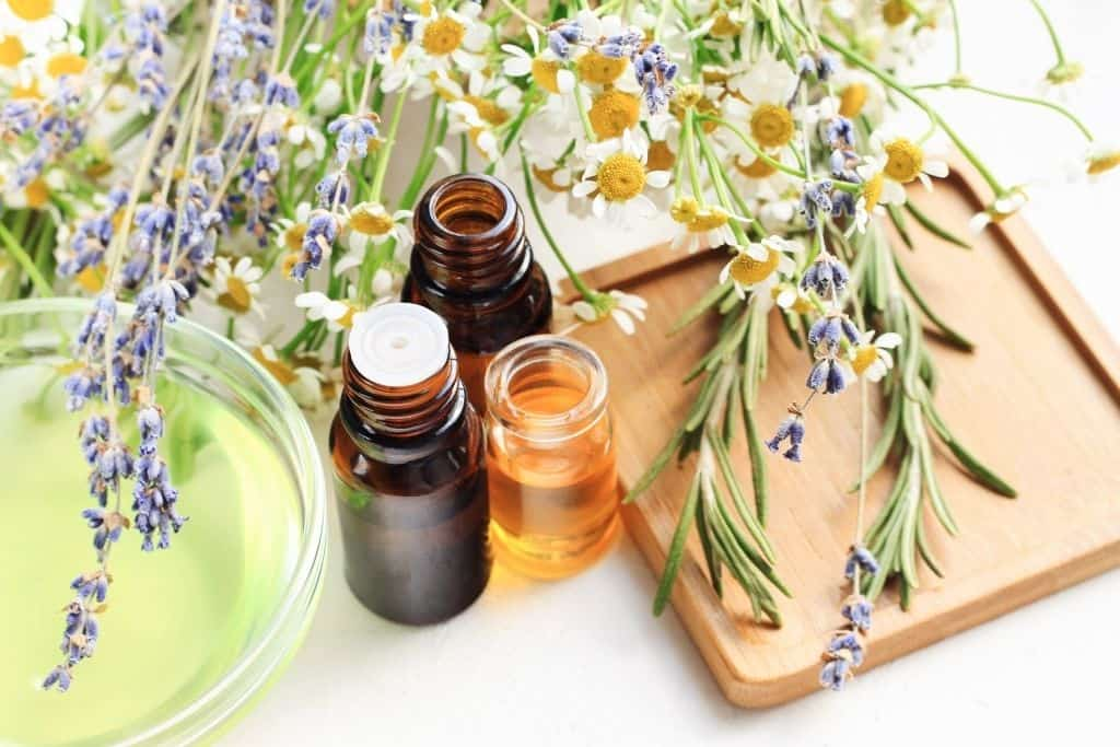 Rosemary and lavender essential oils